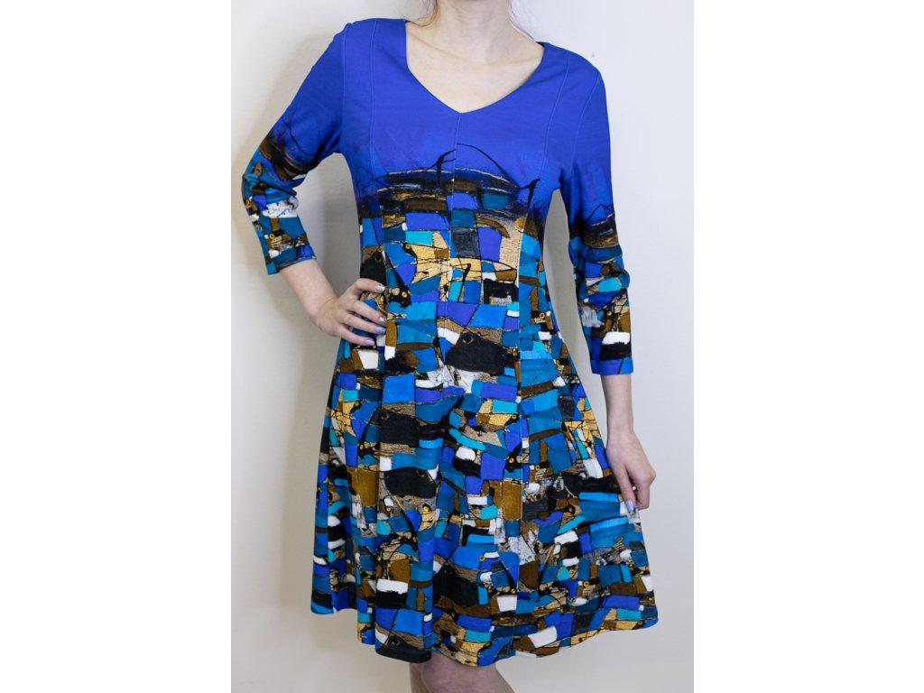 Šaty Dolcezza modré se vzorem 70683