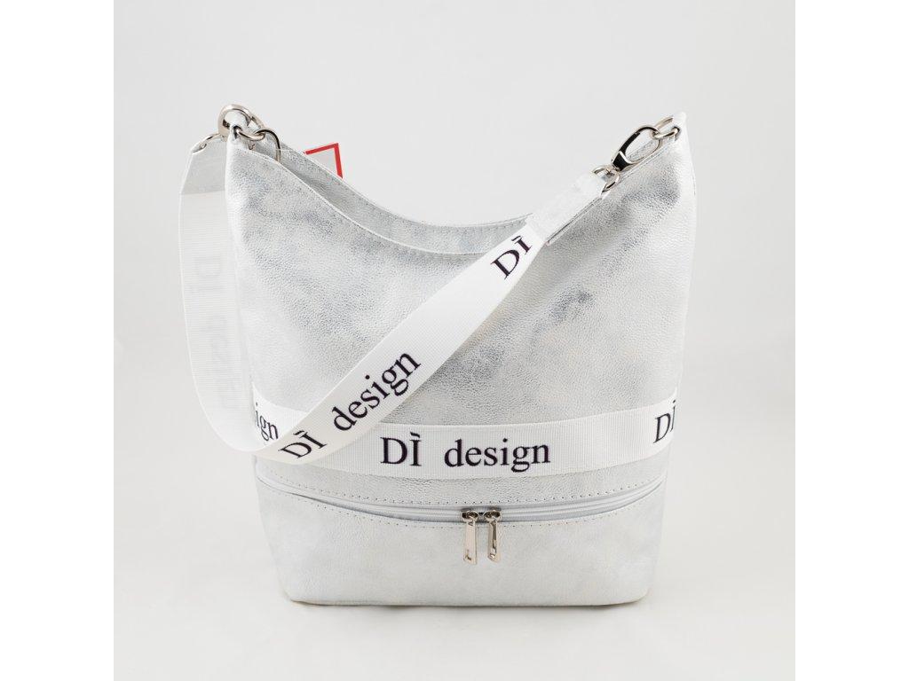 Stříbrno bílá kabelka 127N