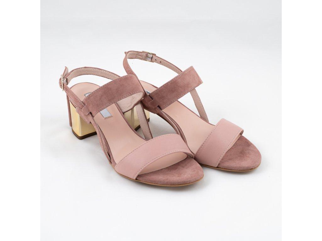 Starorůžové letní sandále AKRIS