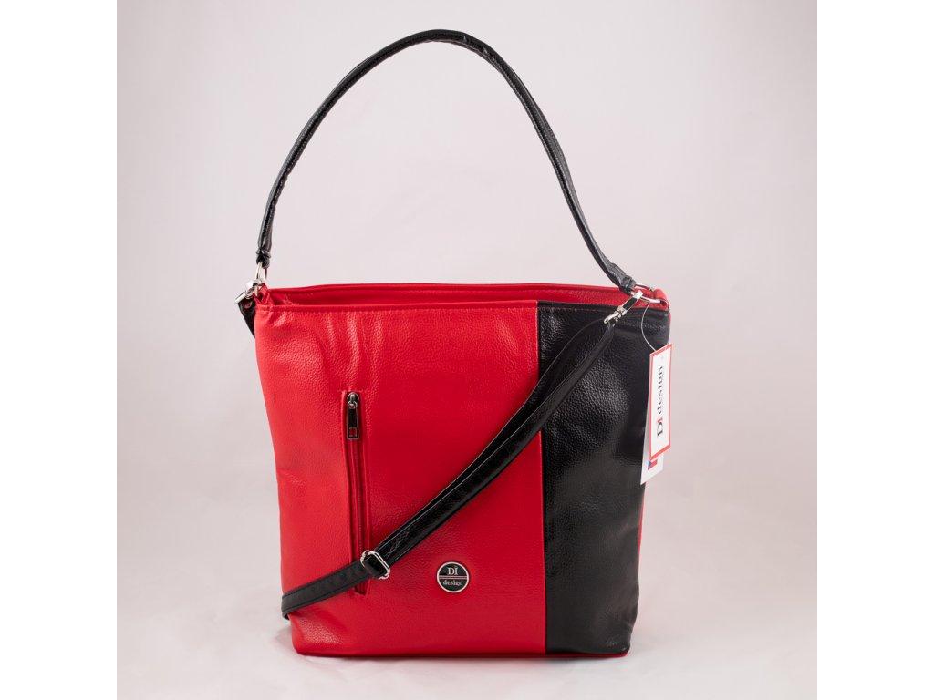 Kabelka červeno-černá 150