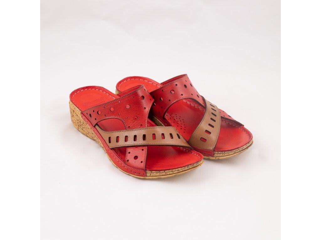 Červené pantofle 2476