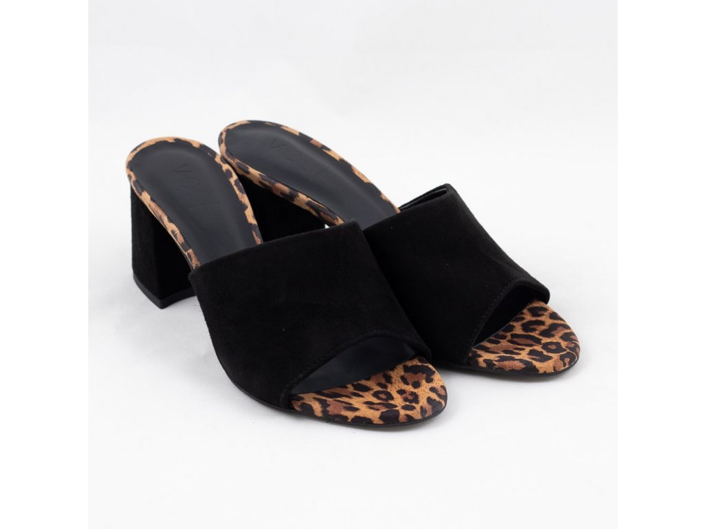 Pantofle černé V-4376