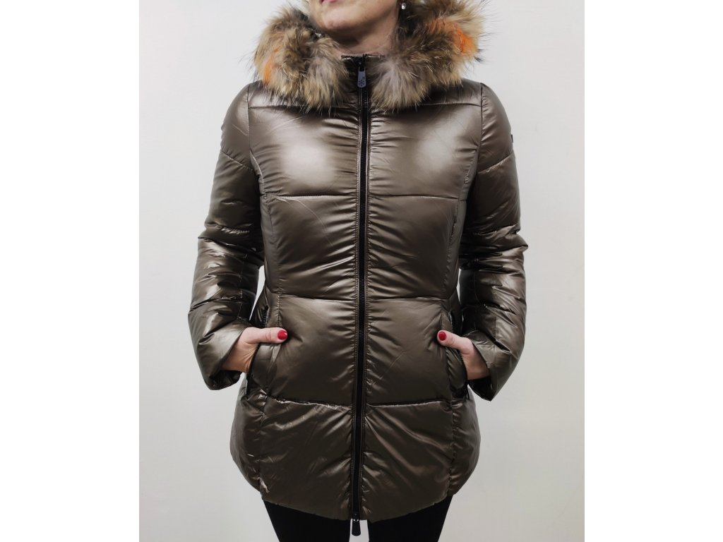 Bunda zimní hnědá-364633