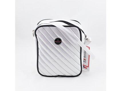 Dámská kabelka bílo-stříbrná 140