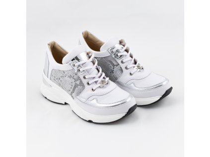 Dámská teniska bílo-stříbrné