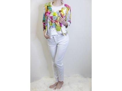 Kalhoty bílé se zdobením 21303