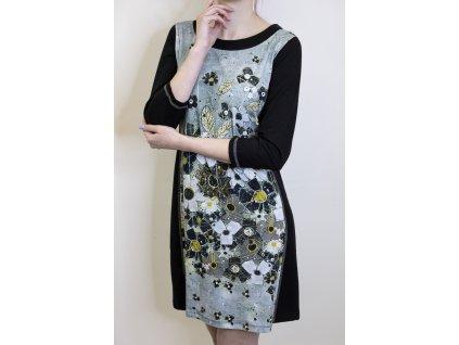 Šaty Dolcezza černé se vzorem 70609