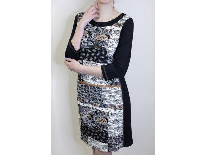 Šaty černé se vzorem Dolcezza 70116