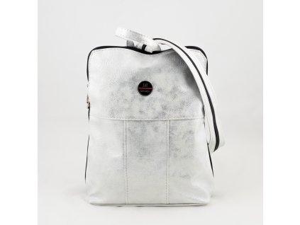 Bílo stříbrný batoh 0222