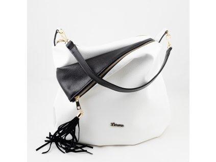 Kabelka bílo - černá 896