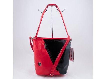 Kabelka černo-červená 0142