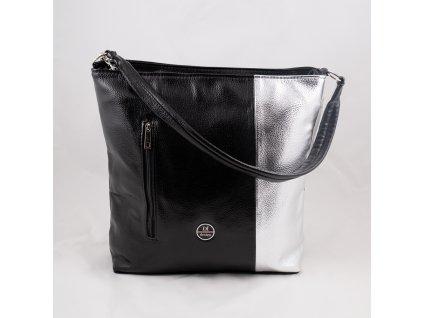 Kabelka černo-stříbrná 150