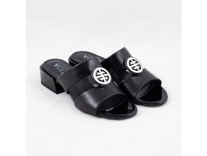 Pantofle černé V-4146