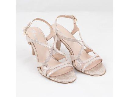 Sandály společenské 1645zlatá