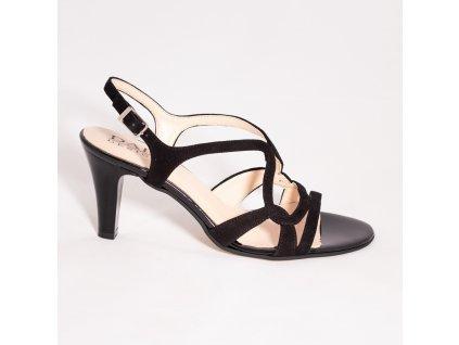 Sandály společenské černé 1645