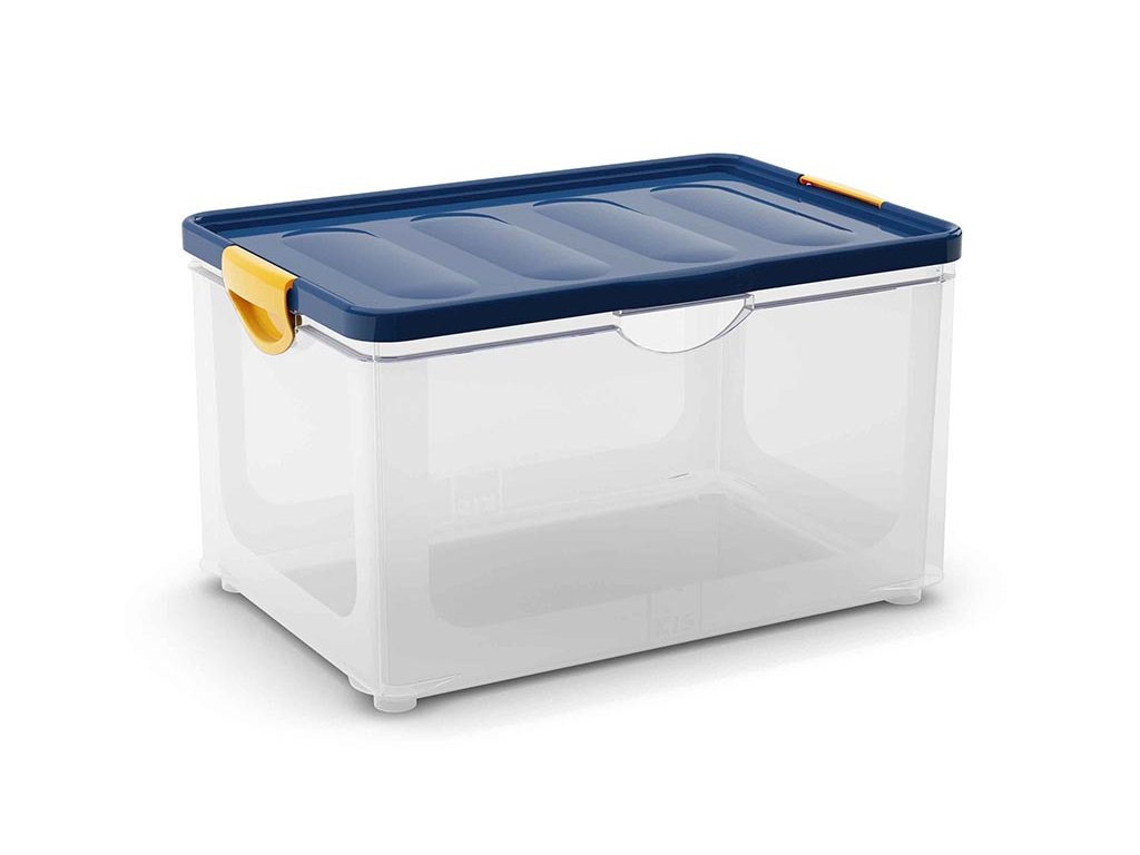 eb364ea20 Plastový úložný box s vekom na klip, 58,5 l - Dielenske vybavenie