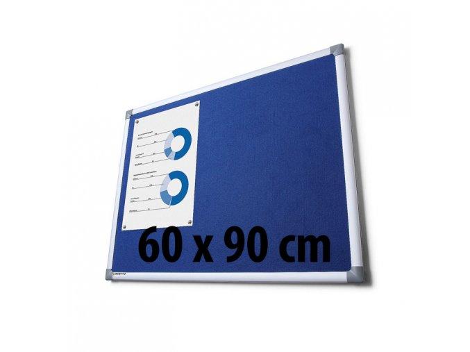 Tabule textilné, 60 x 90 cm, modrá