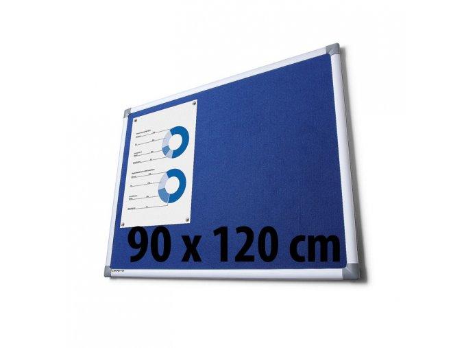 Tabule textilné, 90 x 120 cm, modrá
