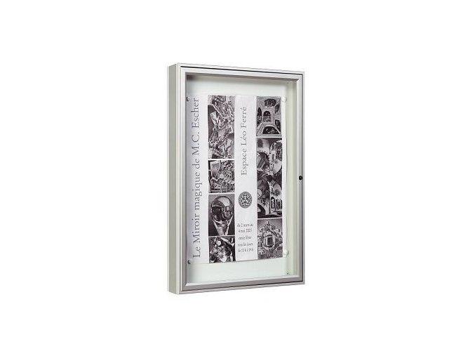 Vonkajšia vitrína 1000 x 1600 mm, hĺbka 75 mm (bezpečnostné sklo)