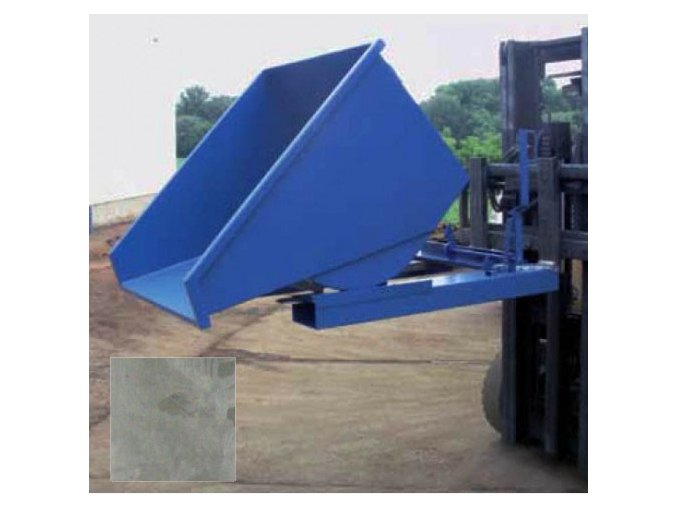 Výklopný kontajner (prepravník) 1200 litrov, var.s kohútom, zinok