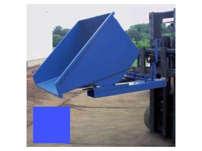 Výklopný kontajner (prepravník) 1700 litrov, var.s kohútom, modrá