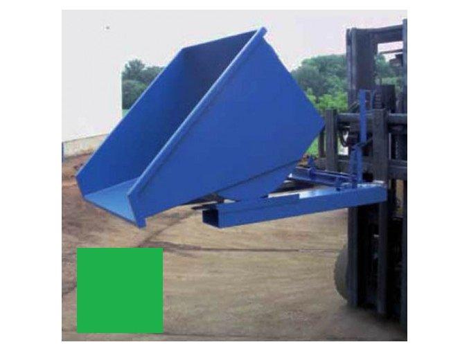 Výklopný kontajner (prepravník) 1700 litrov, var.s kohútom, zelená