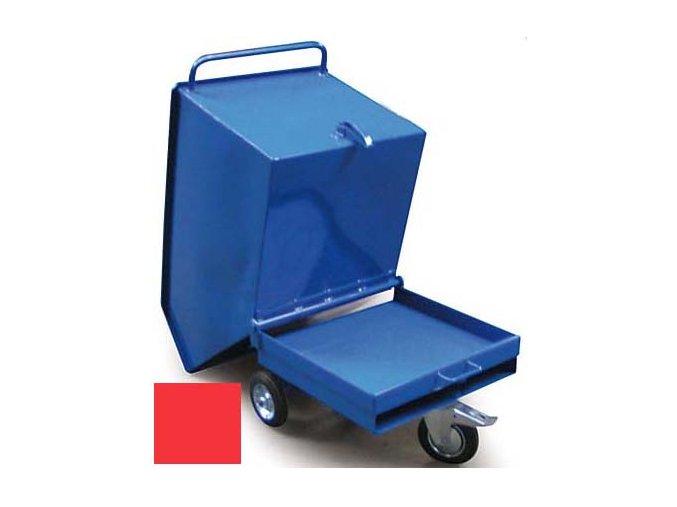 Výklopný vozík na špony, triesky 250 litrov, var.základní, červený