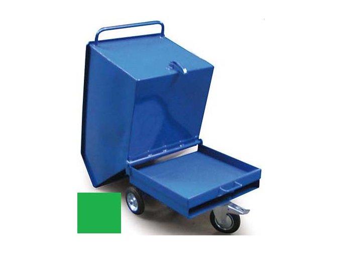 Výklopný vozík na špony, triesky 250 litrov, var.základní, zelená