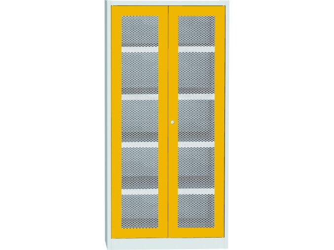Skriňa na chemikálie, drôtené dvere, 1950 x 950 x 500 mm