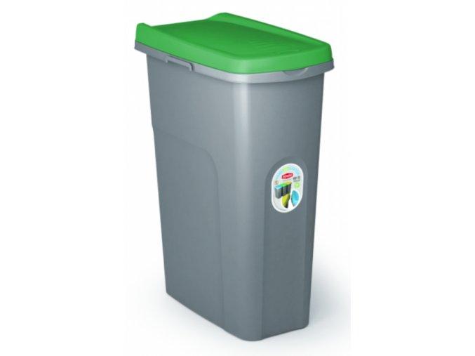 smetny kos na triedenie odpadu eco home system 40 litrov zelený