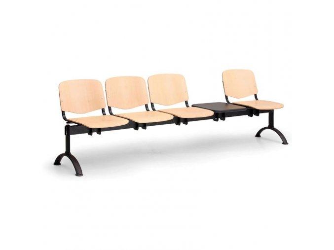 Drevená lavica ISO (čtyrsedák), odkladať.stolík II.