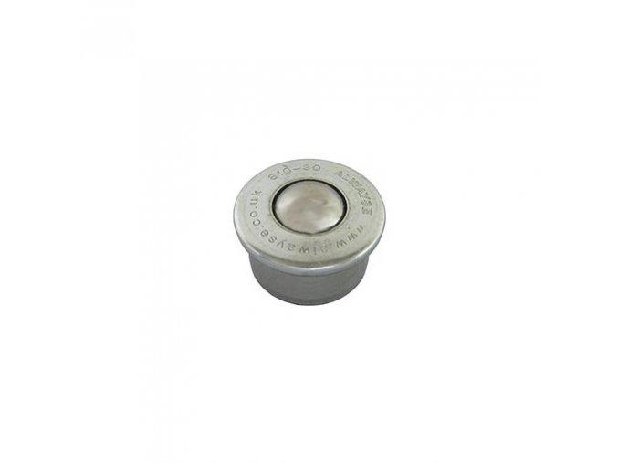 Guľkové kladka, s prírubou, 15mm