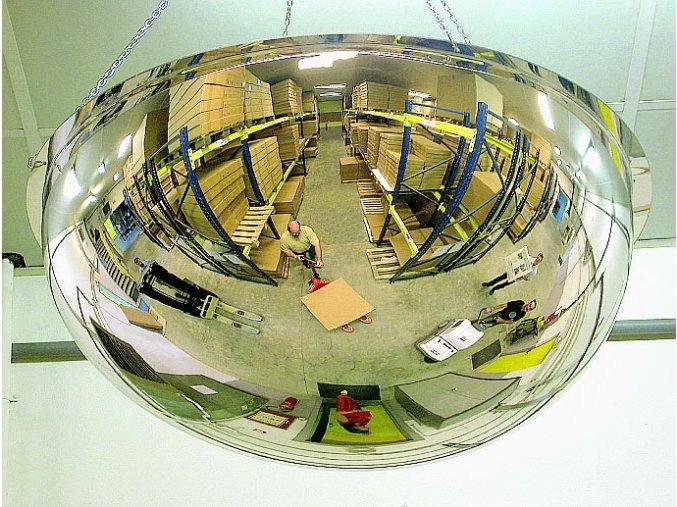Hemisférickou zrkadlo 800, 4 smery