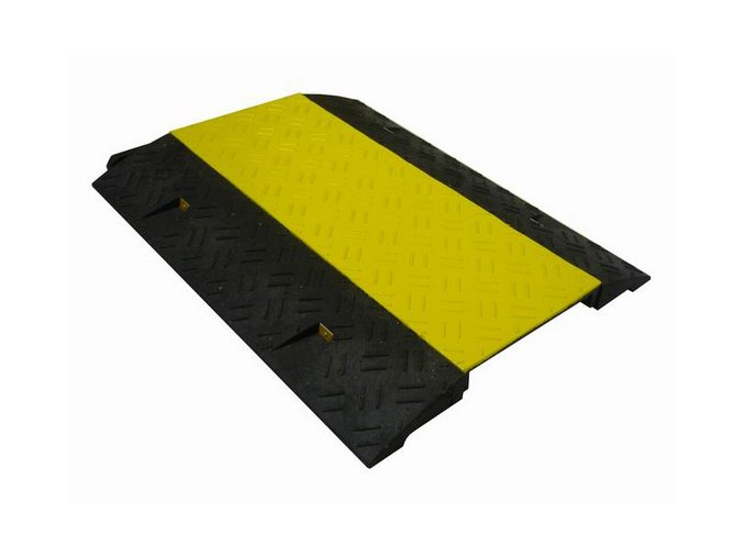 Káblový most s vekom, 80x60x6 cm, žltá / čierna
