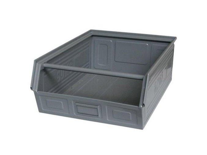 Kovový box skosený 20 x 60 x 40 cm, šedá