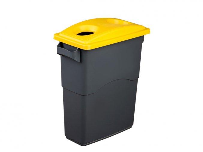 Nádoba na Triedenie odpadu 60 litrov + žlté veko na plasty