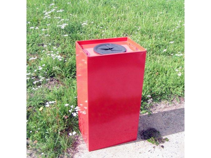 Nádoba na triedený odpad 100 litrov, červená