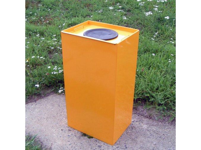 Nádoba na triedený odpad 100 litrov, žltá