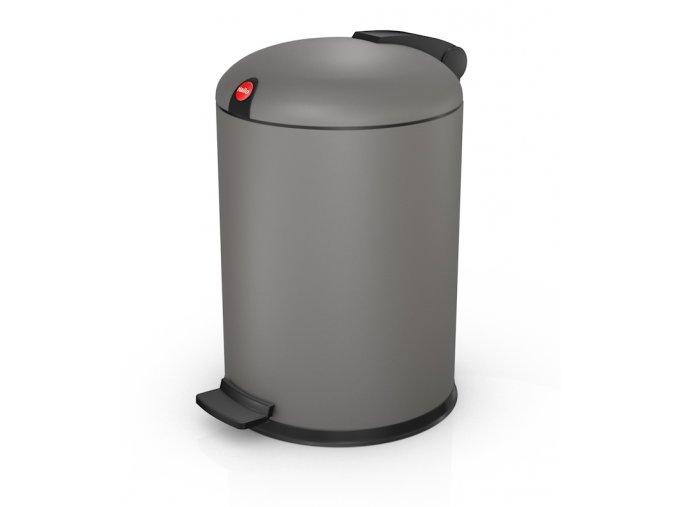 Nášľapný kozmetický kôš Hailo 4 litre, šedý lak