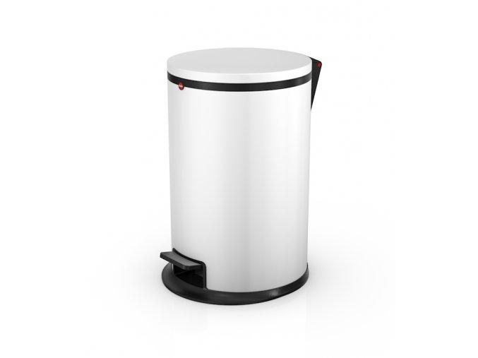 Nášľapný kozmetický kôš Hailo Pure.M, 12 litrov, biely lak