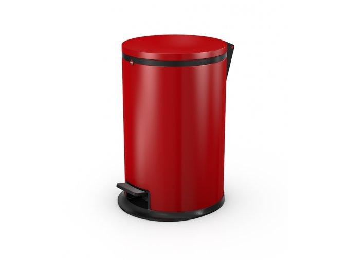 Nášľapný kozmetický kôš Hailo Pure.M, 12 litrov, červený lak