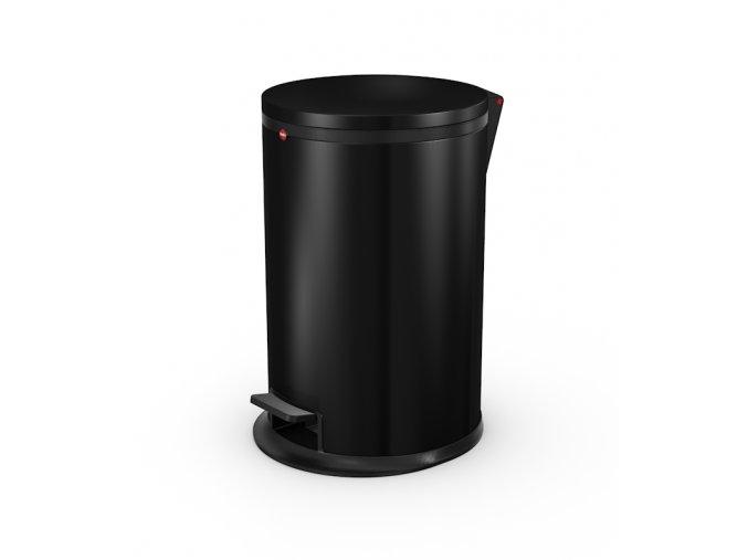 Nášľapný kozmetický kôš Hailo Pure.M, 12 litrov, čierny lak