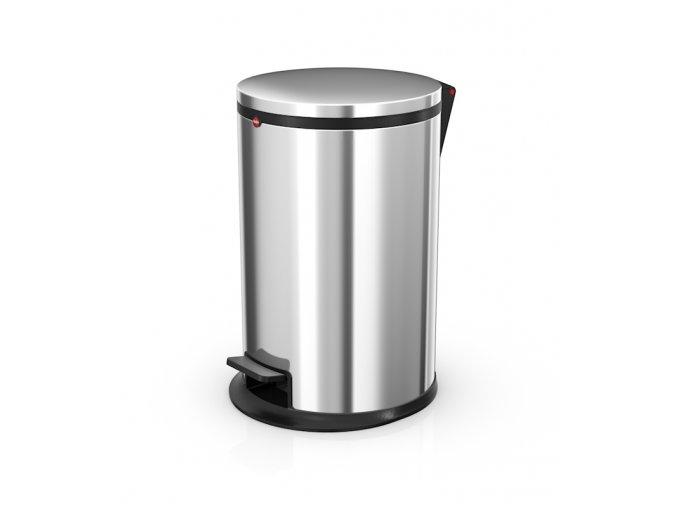 Nášľapný kozmetický kôš Hailo Pure.M, 12 litrov, nerez
