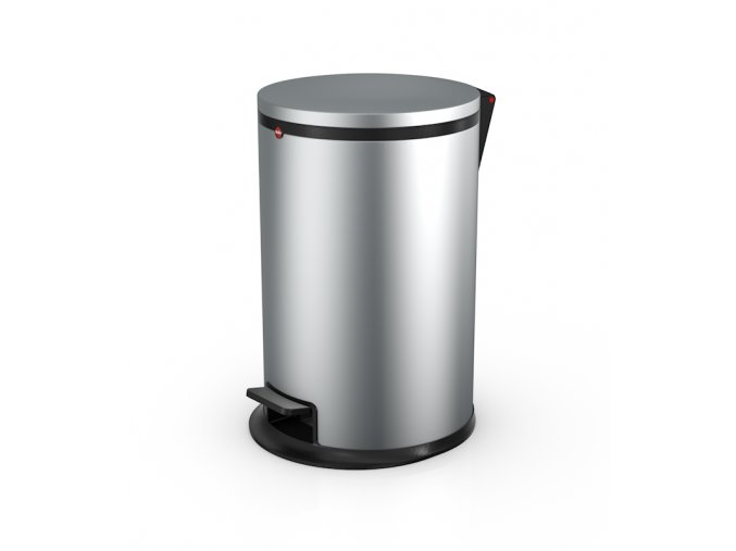 Nášľapný kozmetický kôš Hailo Pure.M, 12 litrov, strieborný lak