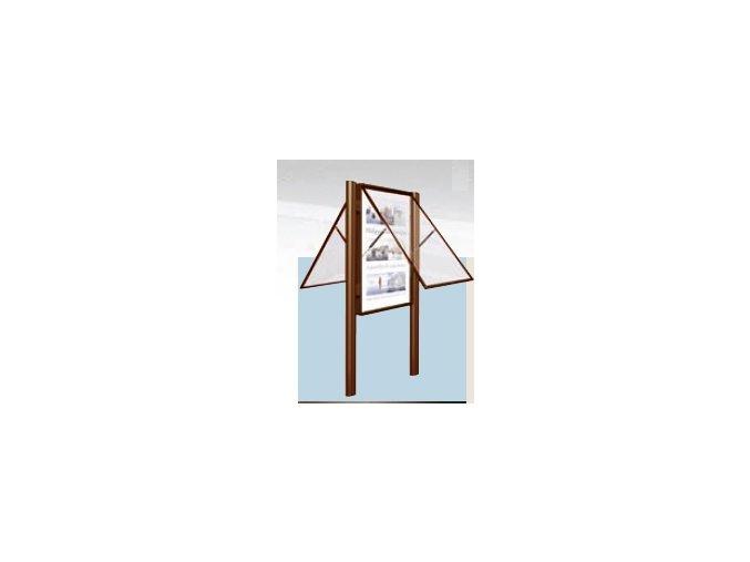 Obojstranná vonkajšia vitrína 1000 x 750 mm, hĺbka 75 mm (bezpečnostné sklo)