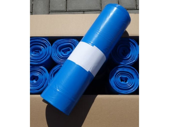 odpadkove vrecia 60 mikronov modre 120 litrov