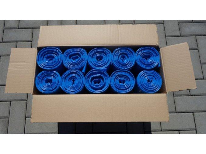 vrecia na odpad 120 l 60 mikronov modre 250 ks