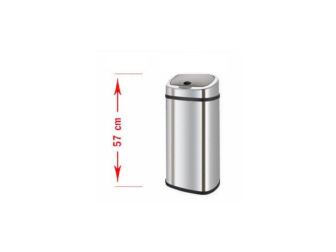 Odpadkový kôš bezdotykový Bravo 30 litrov - čierne veko
