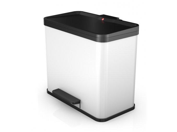 Odpadkový kôš Hailo na triedený odpad 17 + 9 litrov, biely lak
