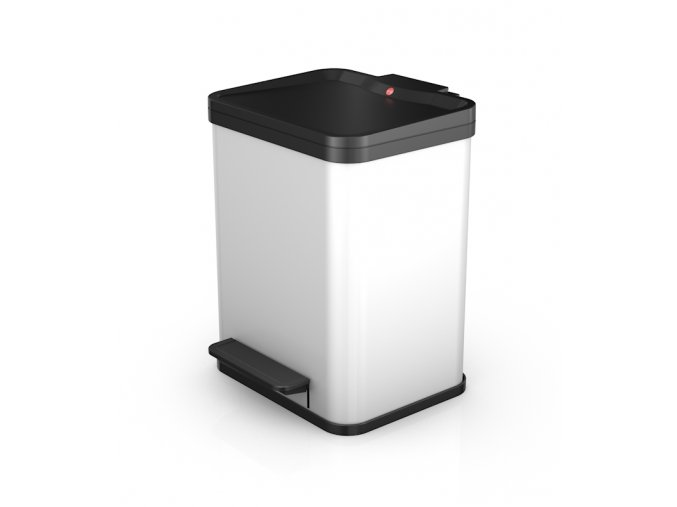 Odpadkový kôš Hailo na triedený odpad 2 × 9 litrov - biely lak